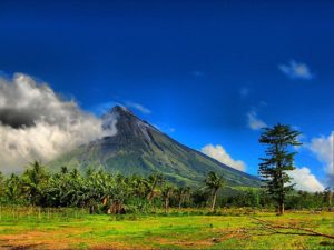 View of Mt. Mayon (Photo by Sir Mervs via Wikimedia)